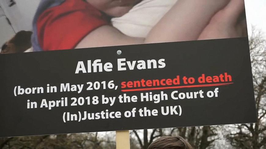 02.05.2018 protestimeeleavaldus Alfie Evansi elu võtmise vastu.